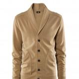 brązowy sweter H&M z guzikami - z kolekcji wiosna-lato 2012