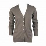 brązowy sweter Jackpot rozpinany - trendy na jesień