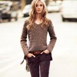 brązowy sweter Mango - jesień 2012