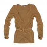 brązowy sweter Pull and Bear rozpinany - moda 2011