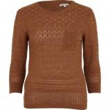 brązowy sweter River Island - jesień/zima 2011/2012