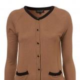 brązowy sweter Topshop rozpinany - moda wiosna/lato