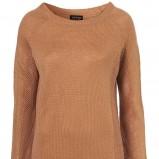 brązowy sweter Topshop - wiosna-lato 2011