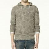 brązowy sweter ZARA z kapturem - wiosna-lato 2011
