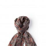 brązowy szal Springfield w łączkę - kolekcja jesienna