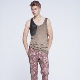 brązowy top H&M - lato 2012
