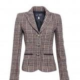brązowy żakiet Van Graaf w kratkę - trendy zimowe