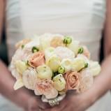 Bukiecik ślubny - biało-żółto-różowy