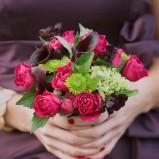 Bukiecik z różowych róż