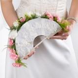 Bukiet ślubny wachlarz