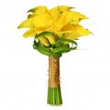Bukiet ślubny z żółtych kwiatów