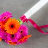 Bukiet z różowych i pomarańczowych gerber