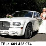 Chrysler 300c bialy auto do ślubu i na wesele Ślask