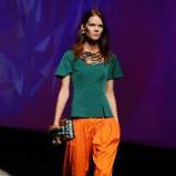 ciemnozielona bluzeczka Kenzo z baskinką - kolekcja wiosenna