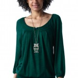 ciemnozielona bluzka Promod - moda 2011