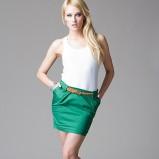 ciemnozielona spódnica Heppin - trendy wiosenne