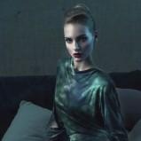 ciemnozielona sukienka Bialcon cieniowana - z kolekcji jesień/zima 2013/2014
