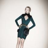 ciemnozielona sukienka Patrizia Pepe - jesień/zima 2011/2012