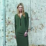 ciemnozielona sukienka Wallis - jesień 2013