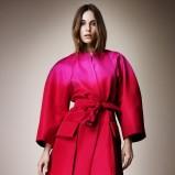 cieniowany płaszczyk Burberry w kolorze różowym - kolekcja na wiosnę 2013