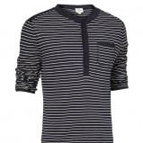 czarna bluza Cottonfield w paski zapinana - kolekcja wiosenno/letnia
