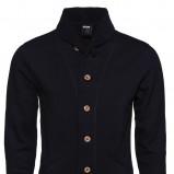 czarna bluza New Yorker z kołnierzem - kolekcja jesienno-zimowa