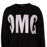 czarna bluza Topshop z napisami - wiosna 2011