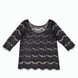 czarna bluzeczka F&F koronkowa - sylwester 2012/2013