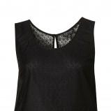 czarna bluzeczka Topshop z baskinką - kolekcja wiosenna