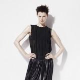 czarna bluzeczka ZARA plisowana - z kolekcji wiosna-lato 2012