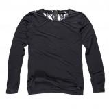 czarna bluzka Big Star z koronką - sezon jesienno-zimowy