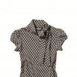 czarna bluzka C&A we wzorki - kolekcja jesienno-zimowa