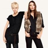 czarna bluzka H&M - jesień 2011