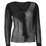 czarna bluzka InWear prześwitująca - trendy zimowe
