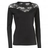 czarna bluzka InWear z koronką - trendy na jesień-zimę