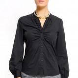 czarna bluzka Mango - z kolekcji wiosna-lato 2011