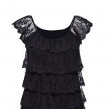 czarna bluzka New Yorker z falbanami - trendy na jesień