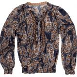 czarna bluzka Reserved we wzory - jesień/zima 2011/2012