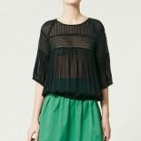 czarna bluzka ZARA - moda 2011