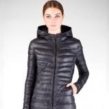 czarna długa kurtka Stradivarius - kolekcja jesień - zima 2012/2013