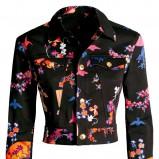 czarna katana H&M w kwiaty - jesień/zima 2011/2012