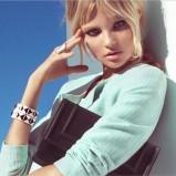 czarna kopertówka H&M - lookbook wiosna 2013