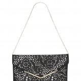 czarna kopertówka New Look ażurowa - moda 2012