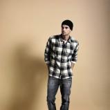 czarna koszula Cottonfield w kratkę - trendy jesienne