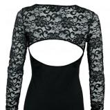 czarna koszula Intimissimi z koronką - trendy na jesień-zimę
