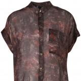 czarna koszula Topshop we wzorki - trendy wiosna-lato
