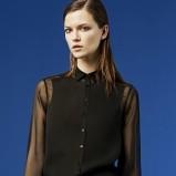 czarna koszula ZARA prześwitująca - sezon wiosenno-letni