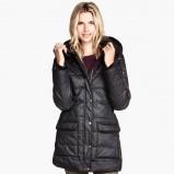 czarna kurtka H&M puchowa