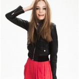 czarna kurtka H&M ramoneska - jesień/zima 2011/2012