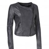 czarna kurtka InWear skórzana - kolekcja jesienno-zimowa